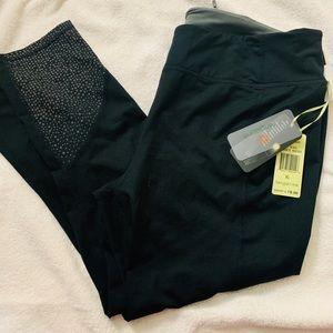 Black Capri Leggings w/ dot detail- Size XL